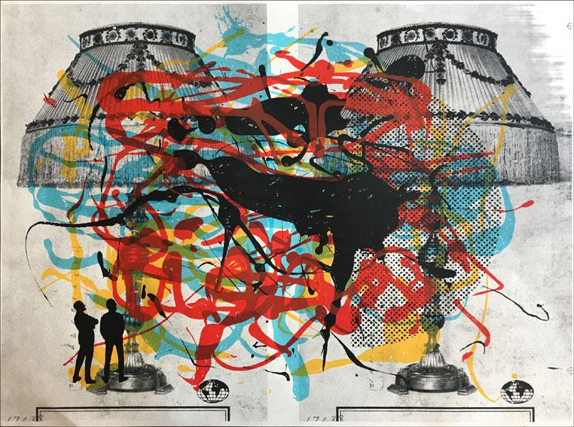 Aesthetic Apparatus  Michael Byzewski FORMATION (UNIKAT)musik art musik posters art of rock musikposter music designe