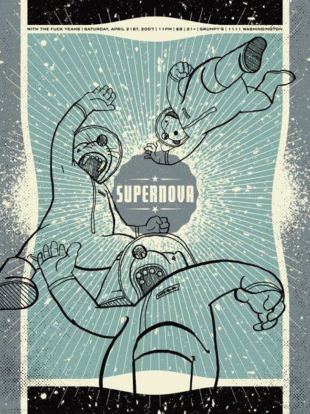 Aesthetic Apparatus  Michael Byzewski SUPERNOVA musik art musik posters art of rock musikposter music designe