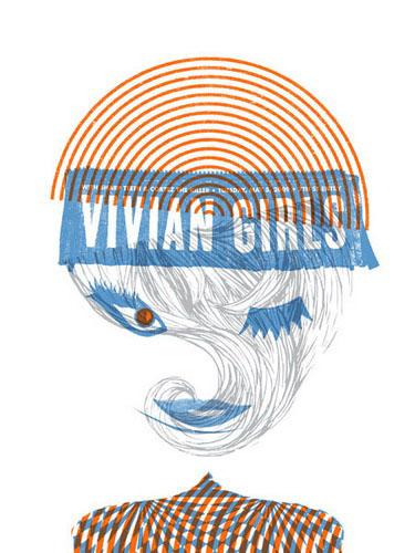 Aesthetic Apparatus  Michael Byzewski VIVIAN GIRLS musik art musik posters art of rock musikposter music designe