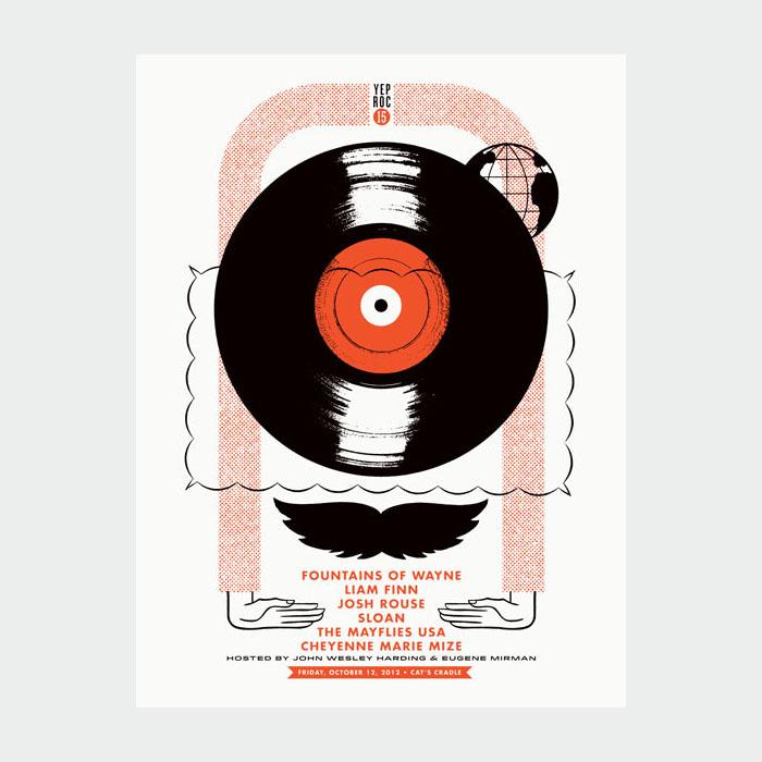 Aesthetic Apparatus  Michael Byzewski YEP ROC 15 musik art musik posters art of rock musikposter music designe