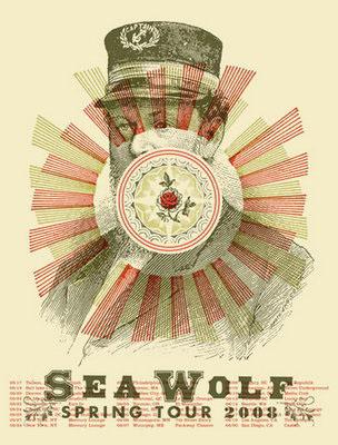 Aesthetic Apparatus 1 Michael Byzewski TH SEA WOLF musik art musik posters art of rock musikposter music designe