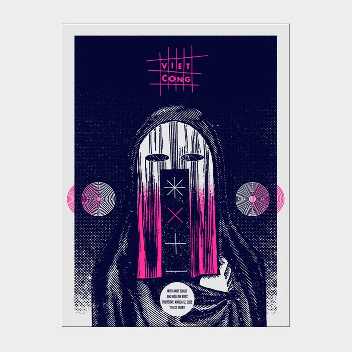 Aesthetic Apparatus 1 Michael Byzewski VIET CONG musik art musik posters art of rock musikposter music designe