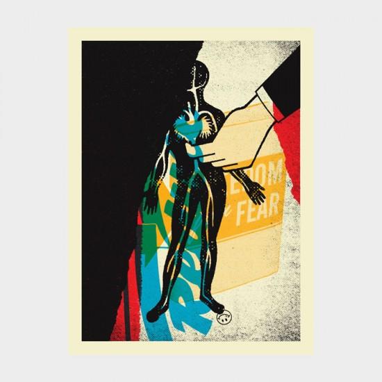 Aesthetic Apparatus  Michael Byzewski musik art musik posters art of rock musikposter music designe DECAY 003