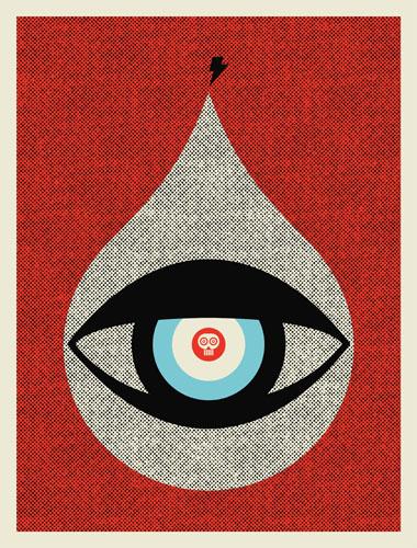 Aesthetic Apparatus Michael Byzewski EYE OF DOOM musik art musik posters art of rock musikposter music designe