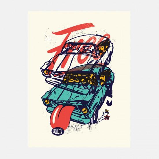 Aesthetic Apparatus Michael Byzewski FREE BEAUTY musik art musik posters art of rock musikposter music designe