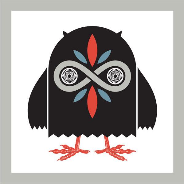 Aesthetic Apparatus Michael Byzewski Infinity Owl musik art musik posters art of rock musikposter music designe