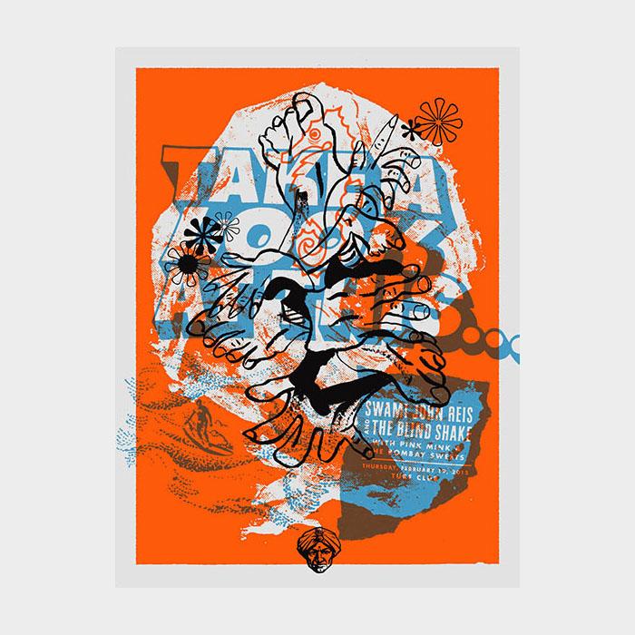 Aesthetic Apparatus Michael Byzewski SWAMI JOHN REIS musik art musik posters art of rock musikposter music designe