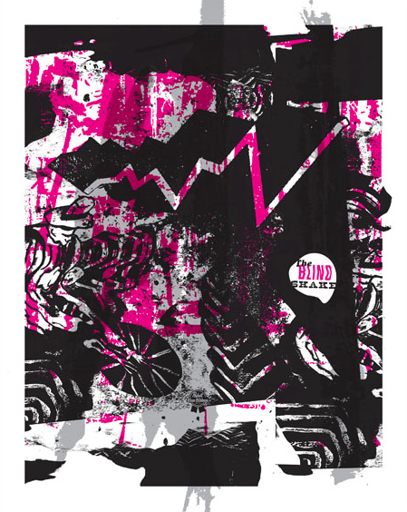 Aesthetic Apparatus Michael Byzewski THE BLIND SHAKE 2016 musik art musik posters art of rock musikposter music designe