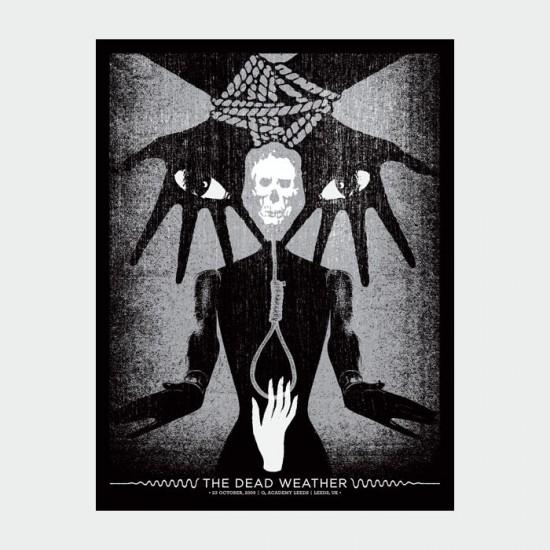 Aesthetic Apparatus Michael Byzewski THE DEAD WEATHER 1 musik art musik posters art of rock musikposter music designe