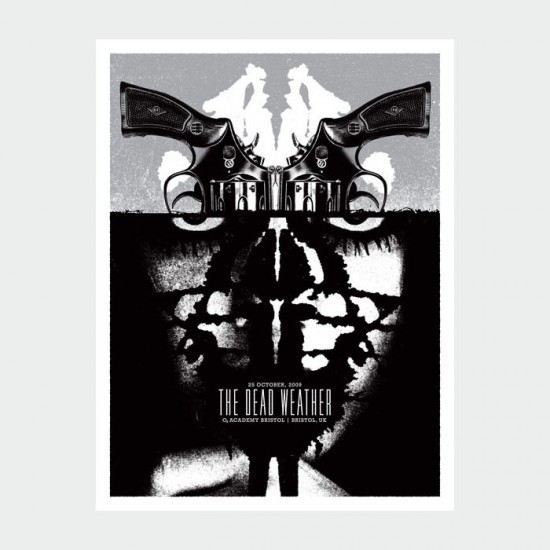 Aesthetic Apparatus Michael Byzewski THE DEAD WEATHER musik art musik posters art of rock musikposter music designe
