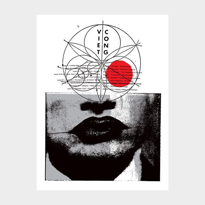 Aesthetic Apparatus Michael Byzewski VIET CONG musik art musik posters art of rock musikposter music designe