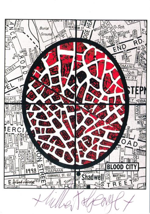 Gilbert & George contemporary art buy print siebdruck poster art Multiple Blood City