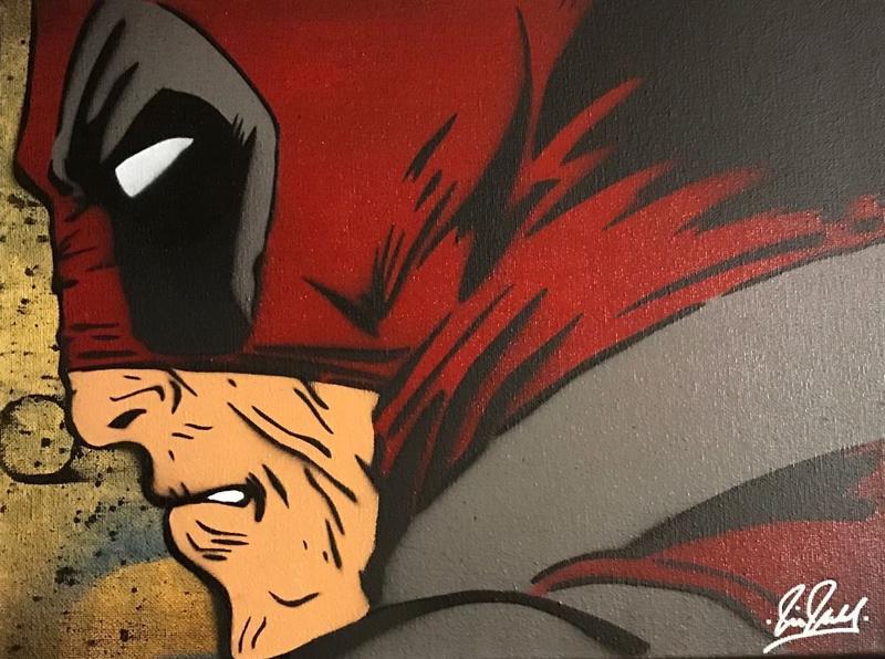 Deadpool Chris Cleveland   Spray-Gemälde auf Leinwand - signed spray paint