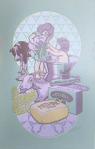 Douze MELVINS grey art gallery buy street art screenprint poster art of rock