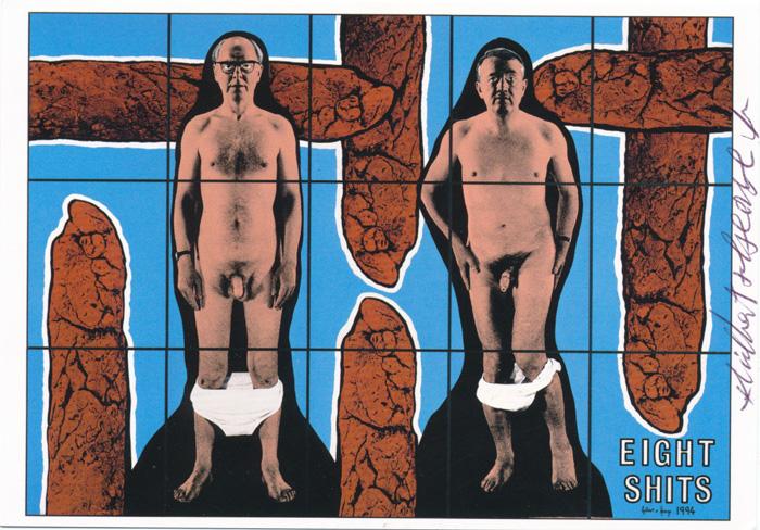 Gilbert & George contemporary art buy print siebdruck poster art Multiple Eight Shits