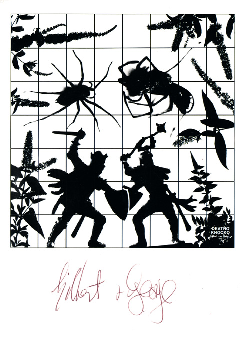 Gilbert & George contemporary art buy print siebdruck poster art Multiple Deatho Knocko