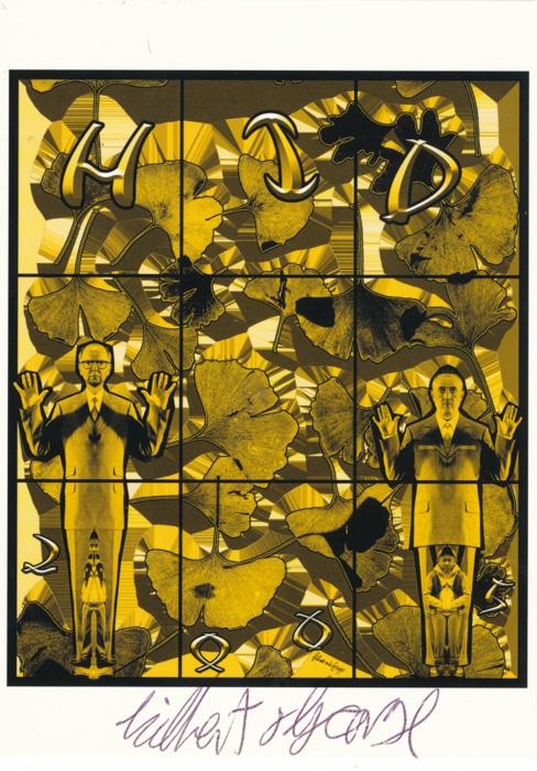 Gilbert & George contemporary art buy print siebdruck poster art Multiple Hid