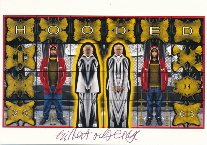 Gilbert & George contemporary art buy print siebdruck poster art Multiple Hooded