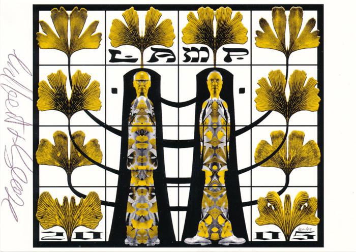 Gilbert & George contemporary art buy print siebdruck poster art Multiple Lamp