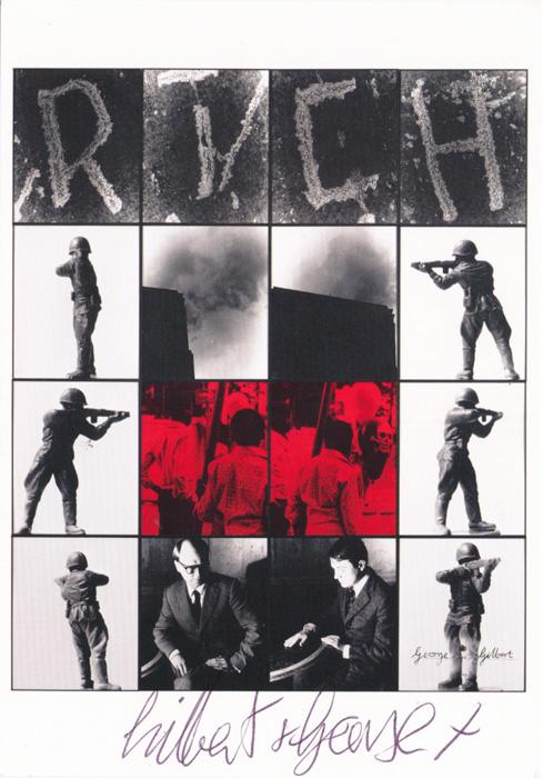 Gilbert & George contemporary art buy print siebdruck poster art Multiple Rich