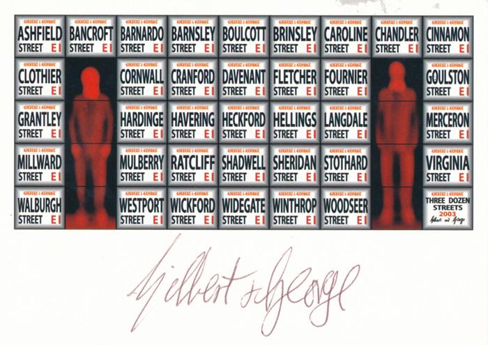 Gilbert & George contemporary art buy print siebdruck poster art Multiple Three Dozen Streets