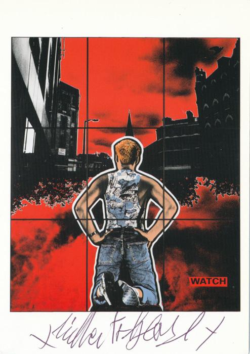 Gilbert & George contemporary art buy print siebdruck poster art Multiple Watch