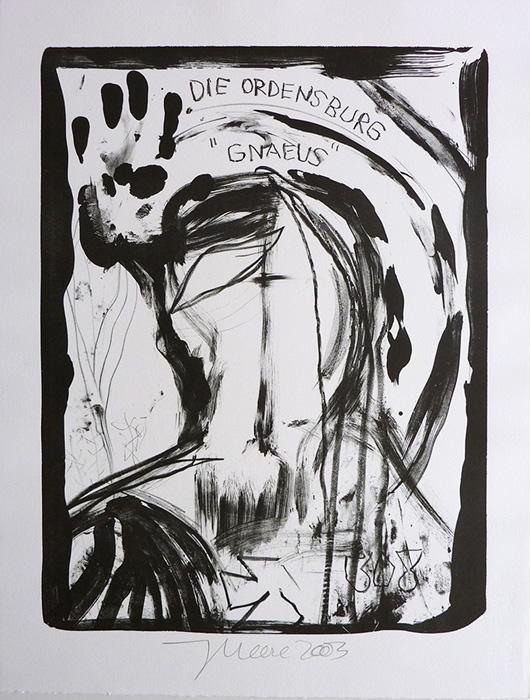 Jonathan Meese contemporary art buy art print Griffelkund Radierung Gnaeus