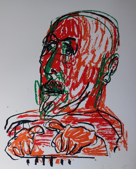 MARKUS LÜPERTZ  Grafik Lithografie Litho Siebdruck screenprint Original Druckgrafik Druck Print Junge wilde