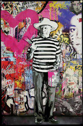 Mr. Brainwash Picasso urban art gallery buy street art screenprint poster