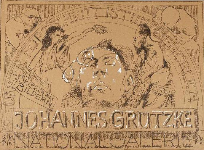 Plakat Poster Lithografie Johannes Grützke Holzschnitt Radierung Schabradierung Offsetdruckt Druckgrafik Kaltnadelradierung