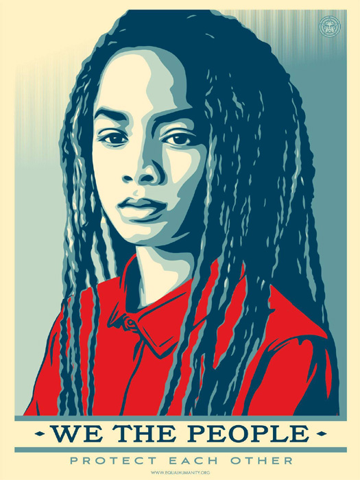 Shepard Fairey Obey offset lithograph 2017 protect each other