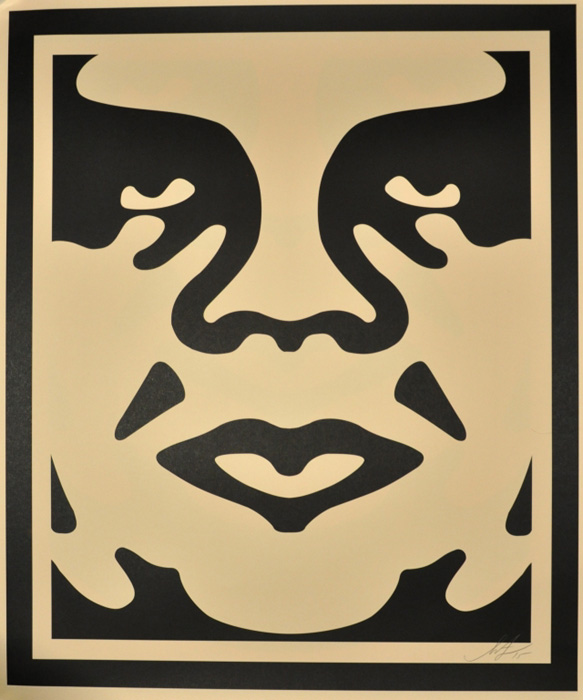 Shepard Fairey Obey offset print 2010 obey face cream