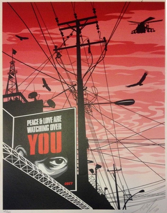 Shepard Fairey Obey silkscreen Siebdruck 2007 Big brother city poster