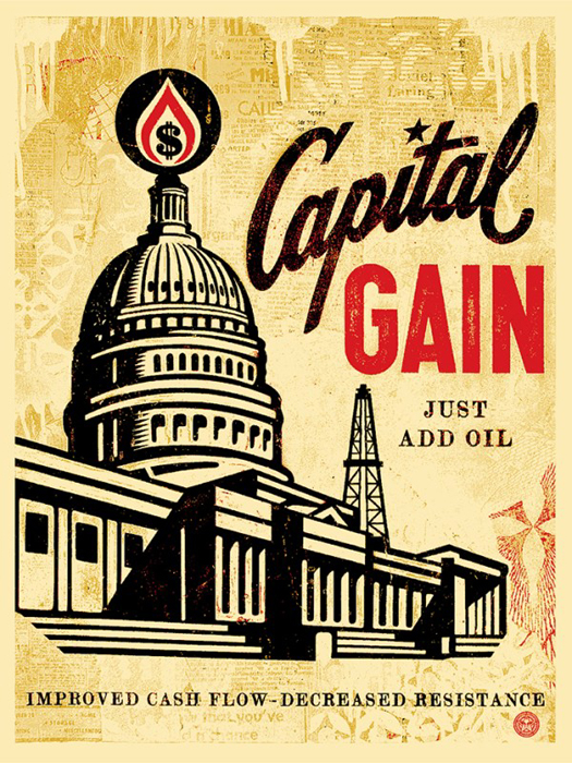 Shepard Fairey Obey silkscreen Siebdruck 2015 capital gain poster