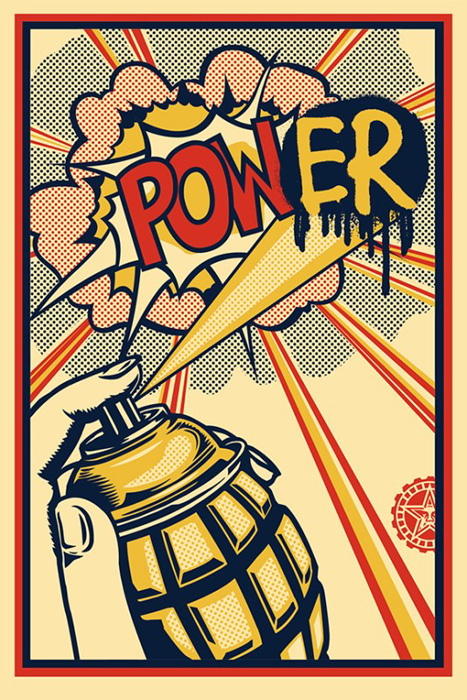 Shepard Fairey Obey offset print 2010 obey power