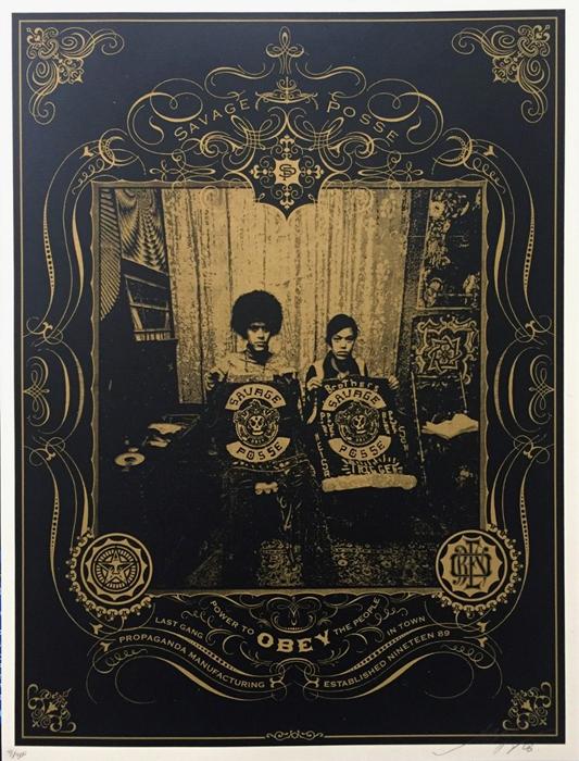 Shepard Fairey art poster