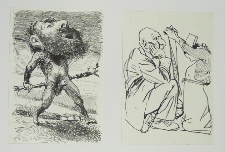 Steinzeichnungen 1 Kathedrale des Künstlers Lithografie Johannes Grützke Holzschnitt Radierung Schabradierung Offsetdruckt Druckgrafik Kaltnadelradierung