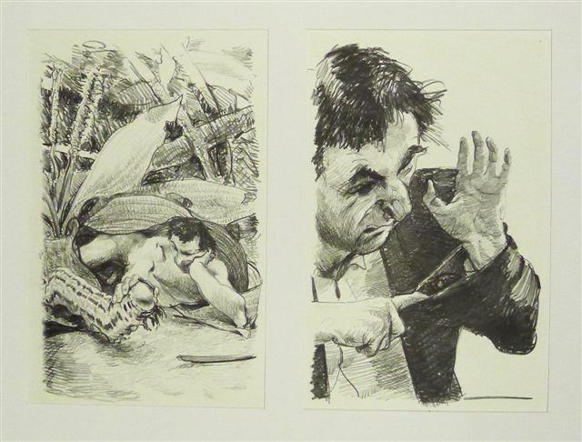 Steinzeichnungen 10 Kathedrale des Künstlers Lithografie Johannes Grützke Holzschnitt Radierung Schabradierung Offsetdruckt Druckgrafik Kaltnadelradierung