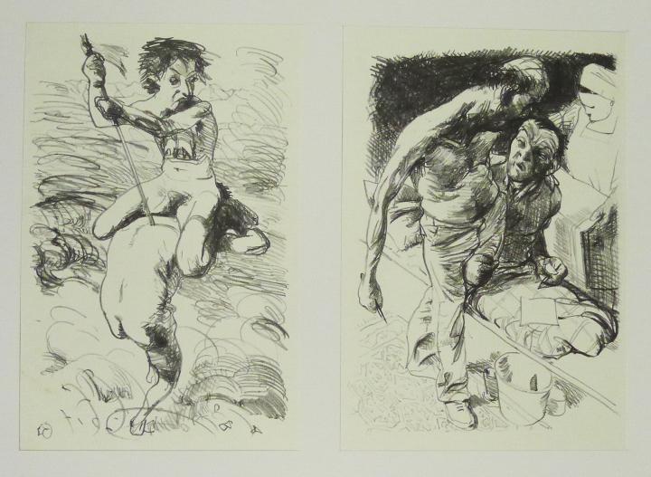 Steinzeichnungen 6 Kathedrale des Künstlers Lithografie Johannes Grützke Holzschnitt Radierung Schabradierung Offsetdruckt Druckgrafik Kaltnadelradierung