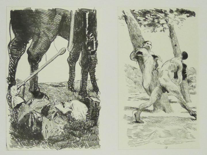 Steinzeichnungen 7 Kathedrale des Künstlers Lithografie Johannes Grützke Holzschnitt Radierung Schabradierung Offsetdruckt Druckgrafik Kaltnadelradierung
