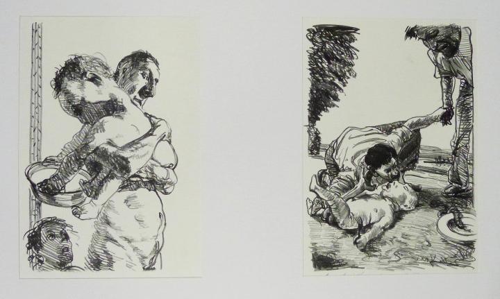 Steinzeichnungen 9 Kathedrale des Künstlers Lithografie Johannes Grützke Holzschnitt Radierung Schabradierung Offsetdruckt Druckgrafik Kaltnadelradierung