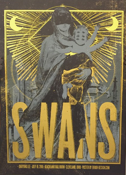 Xavi Forné, urban art gallery buy street art screenprint poster art of rock Swans