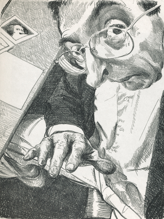am schreibtisch Steinzeichnungen 2 Kathedrale des Künstlers Lithografie Johannes Grützke Holzschnitt Radierung Schabradierung Offsetdruckt Druckgrafik Kaltnadelradierung