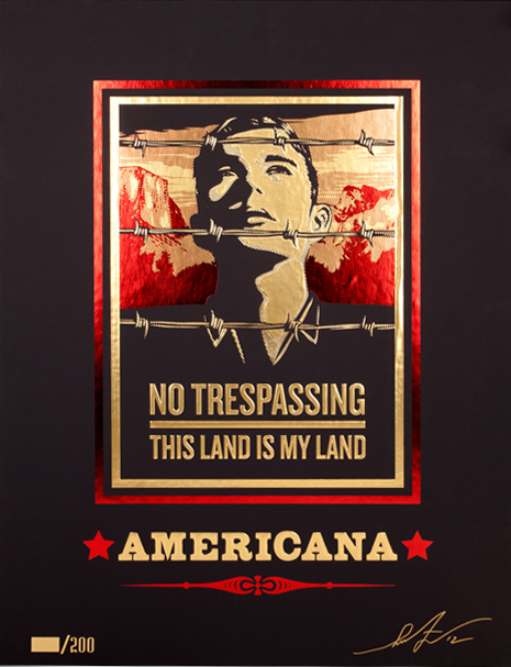 Shepard Fairey Obey silkscreen Siebdruck 2012 Americana Box Set No traspassing