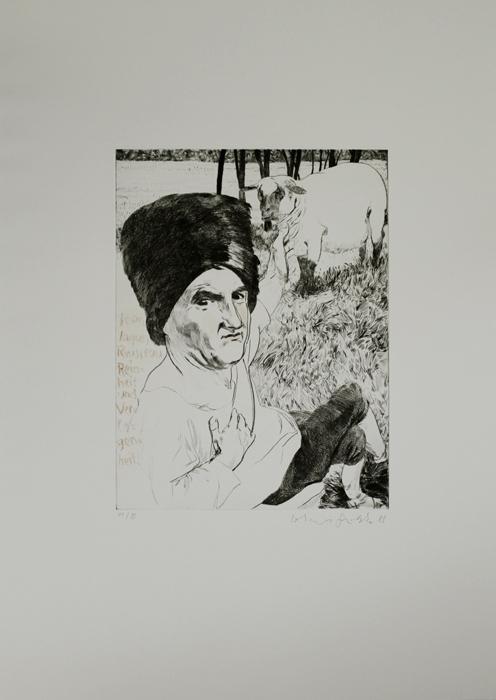 jean jacques rosseeau Kathedrale des Künstlers Lithografie Johannes Grützke Holzschnitt Radierung Schabradierung Offsetdruckt Druckgrafik Kaltnadelradierung