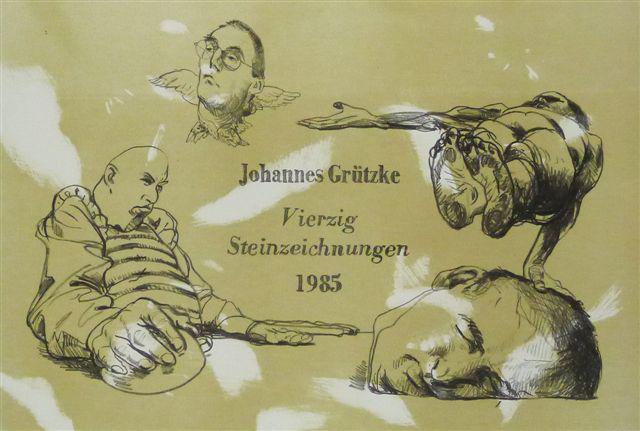 steinzeichnungen Kathedrale des Künstlers Lithografie Johannes Grützke Holzschnitt Radierung Schabradierung Offsetdruckt Druckgrafik Kaltnadelradierung